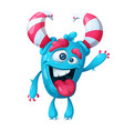 funny cute crazy monster character vector image vector image