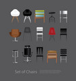 furniture set of chair vector image vector image