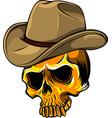 gangster skull head design vector image