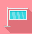 glass city light banner icon flat style vector image vector image