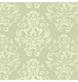 Gold and green vintage floral seamless pattern vector image