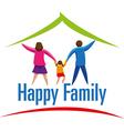 Happy Family icon or logo vector image vector image