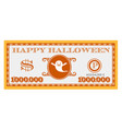 happy halloween dollar bill design vector image vector image