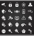 home security set on black background vector image