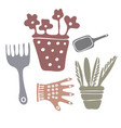 isolated elements of cozy garden vector image vector image