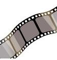 isolated film with white background 3d rendering vector image vector image
