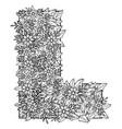 letter l dudling drawing mandala vector image