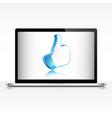 like symbol on laptop screen vector image