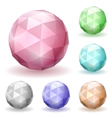Low polygonal spheres vector image