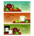 matcha horizontal banners vector image vector image