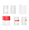 Medical bottle vector image