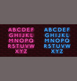neon banner alphabet font bricks wall vector image