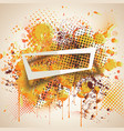 paper frame on abstract blot spot background ink vector image
