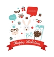 Photobooth Birthday and new year party set vector image vector image
