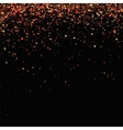 Red Confetti Isolated on Black Background vector image vector image