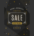 sale banner with ornamental flourishes frame vector image vector image