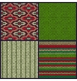 Seamless Knitted Pattern Set of Christmas Samples vector image