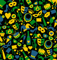 Seamless pattern of Carnival vector image