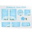 set floral wedding invitation template vector image