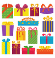 set gifts vector image