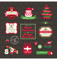 set of Christmas labels and frames design vector image vector image
