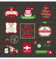 set of Christmas labels and frames design vector image