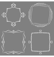 Set of nice decorative frames vector image vector image