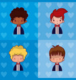 set of wedding boyfriend cartoon vector image