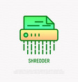 shredder line icon symbol of information security vector image