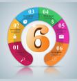 six 3d digital infographic vector image