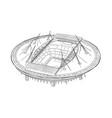 sketch of the new stadium in saint-petersburg vector image
