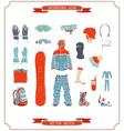snowboard gear vector image