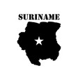 symbol of suriname and map vector image vector image