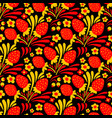 traditional russian hohloma style seamless pattern vector image vector image
