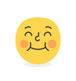 trendy shy emoji smile eps10 vector image vector image