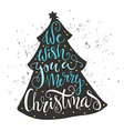 Xmas Lettering vector image vector image