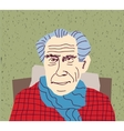 Gaffer grandfather portrait character vector image