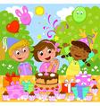 happy birthday girl vector image