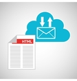 cloud technology web language email vector image