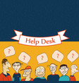 help desk board vector image