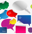 set of colorful dialog boxes and stickers vector image