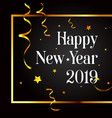 2019 merry christmas and happy new year card vector image vector image