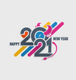 2021 symbol year bull vector image vector image