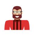 adult male beard vector image vector image