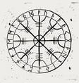 aegishjalmur scandinavian runic amulet vector image