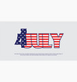 american independence day-4th of july bnner vector image