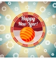 Badge with cute new year bauble and -Happy New vector image vector image