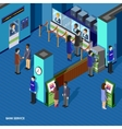 bank service isometric concept vector image
