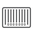 barcode line icon e commerce and marketing vector image