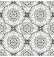black and white seamless pattern with sunflowers vector image